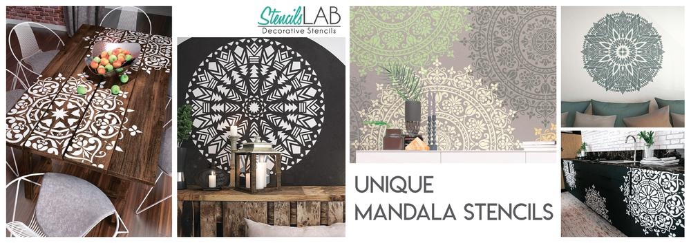 Unique Mandala Stencils - Mandala - Decor Ideas