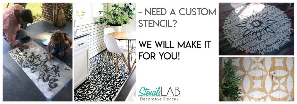 Border Stencils for Furniture And Wall Decor - Home Decor Ideas on StencilsLAB