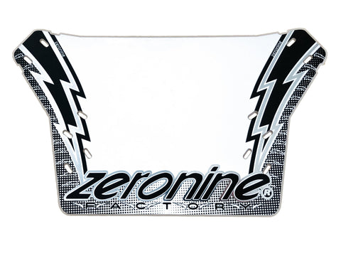 BMX Numberplate - Lightning Bolt - ZeroNine Mfg. Co., Inc.