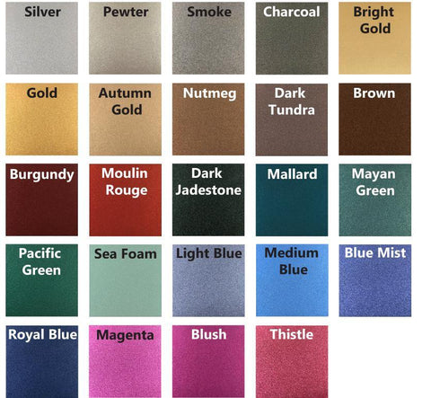 Metallic Colors - ZeroNine Mfg. Co., Inc.