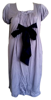 ROUND NECK SATIN RIBBON TIE