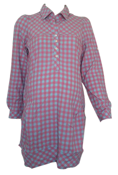 CHECKERED PINK SHIRT