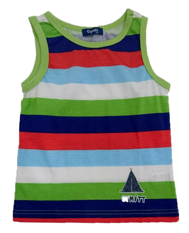 GYMMIT AUTUMNAL STRIPED SLEEVELESS T