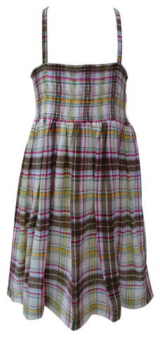 GYMMIT CHECKERED-SMOCK DRESS