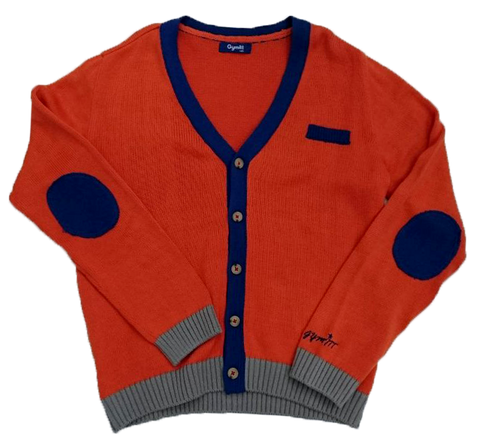 GYMMIT POINT LINE PATCH CARDIGAN