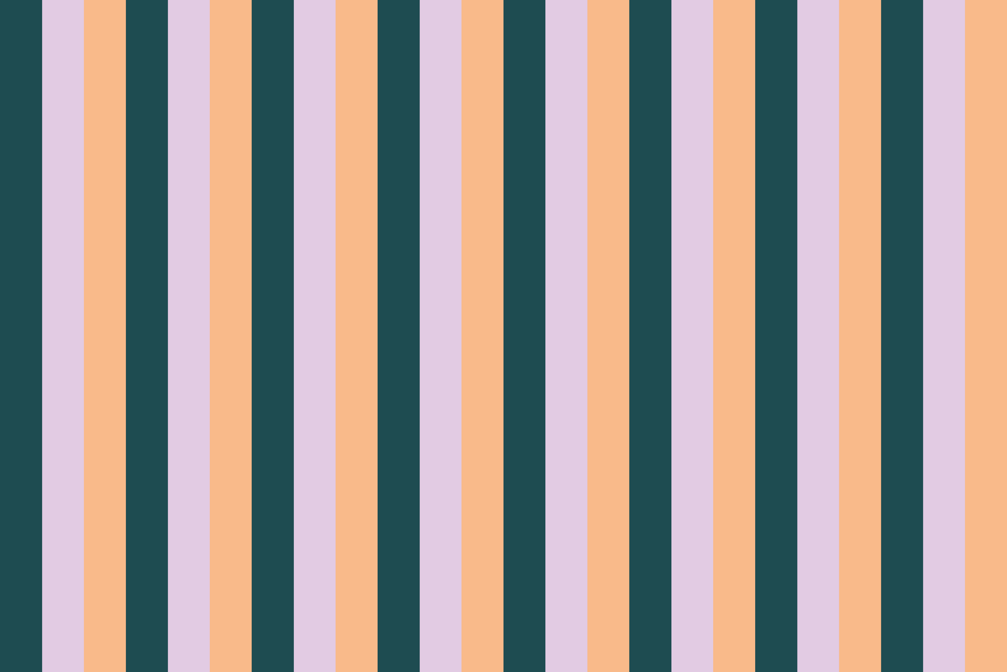 Peach 90s Stripe