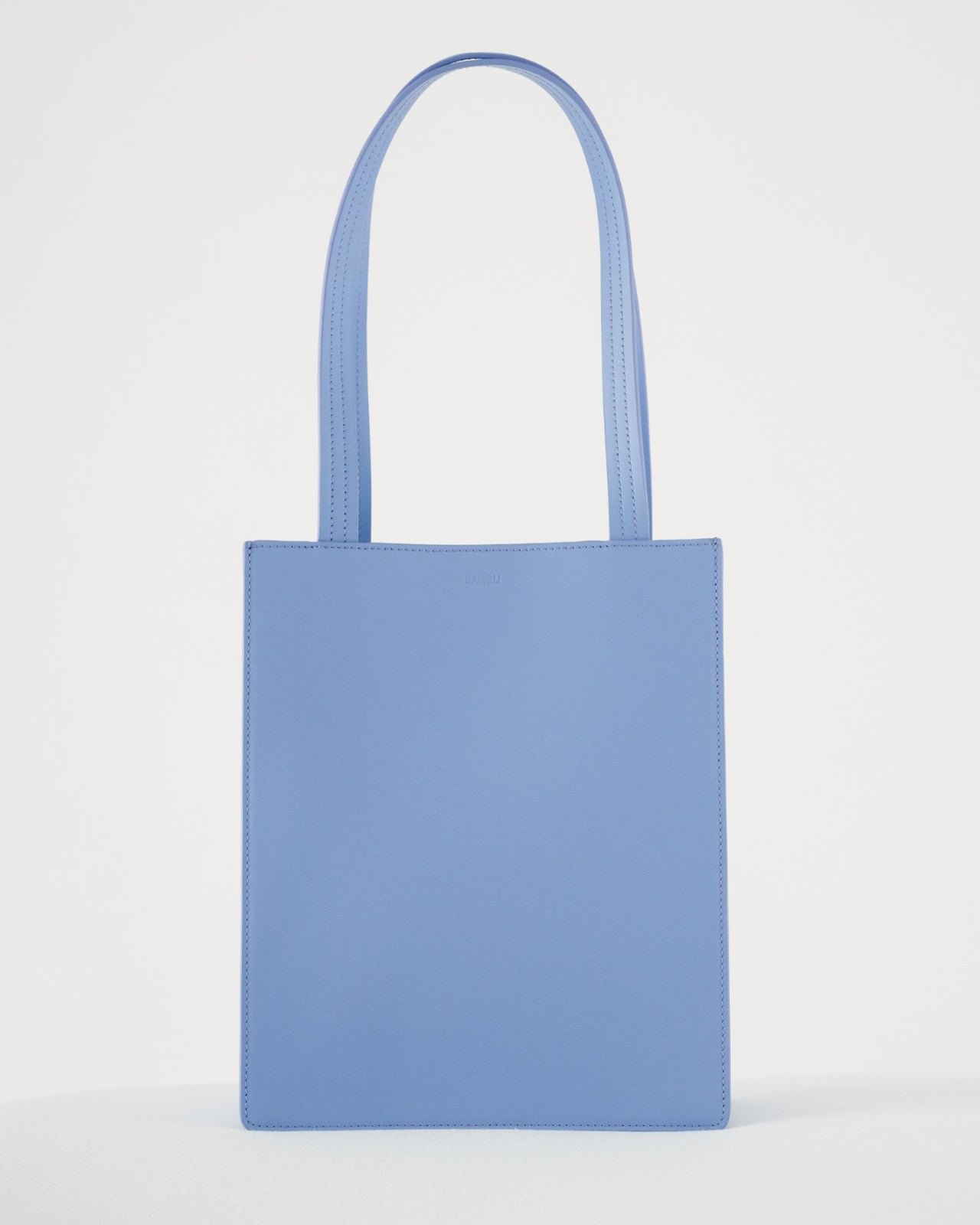 Medium Leather Retail Tote - Cornflower