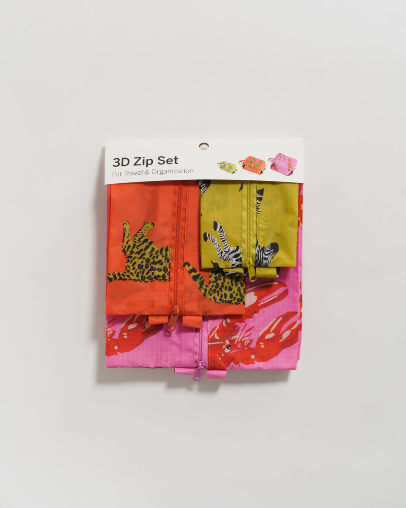 3D Zip Set - Fancy Animal - 3D Zip Set - BAGGU