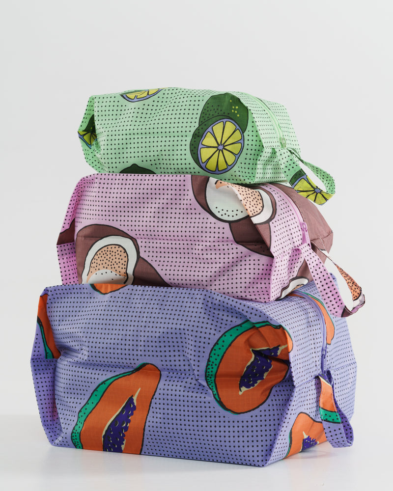 BAGGU Travel 3D Zip Set - Tropical Fruit