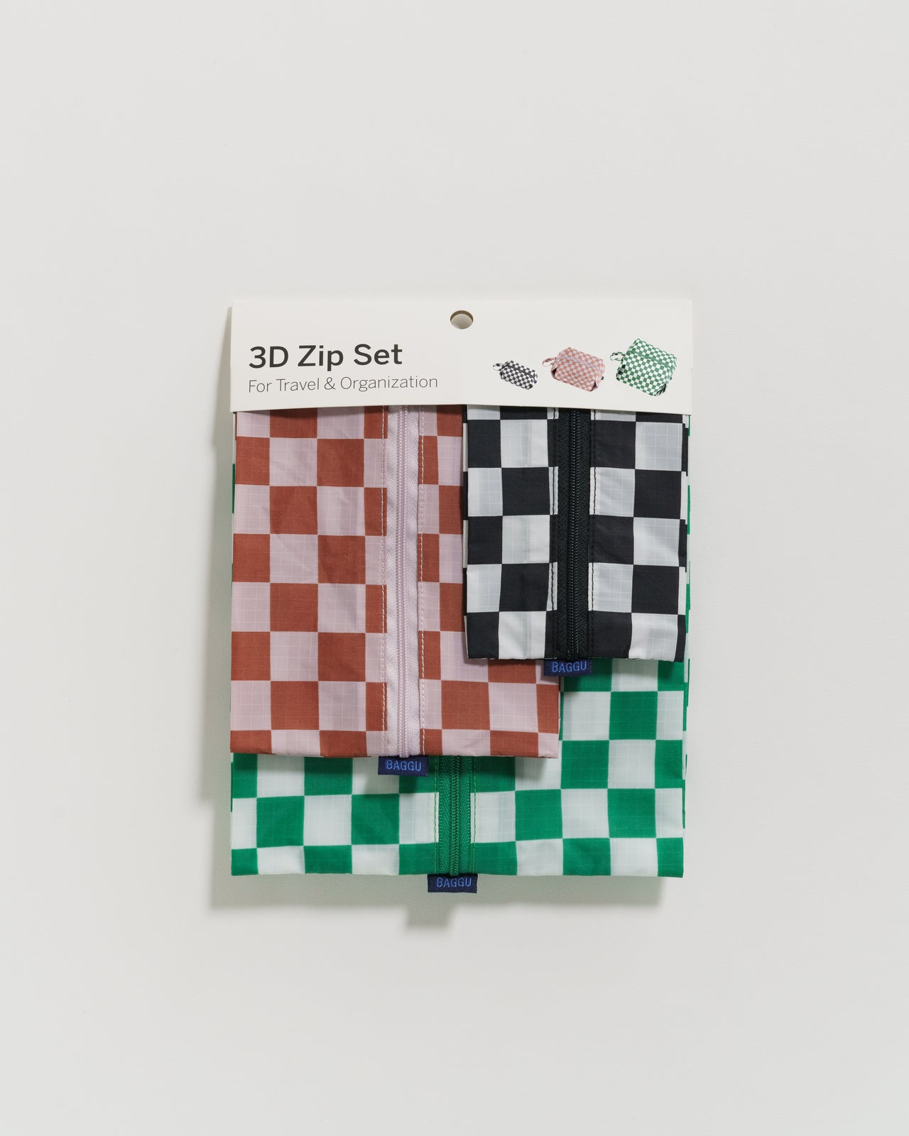 3D Zip Set - Checkerboard - 3D Zip Set - BAGGU