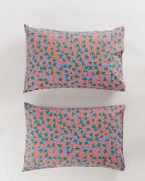Pillow Case Set of 2 - Red Calico Floral