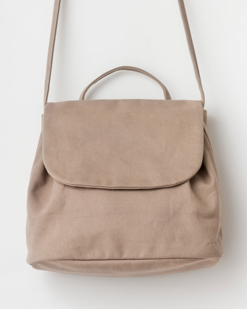 Canvas Shoulder Bag - Canvas Purse - Mushroom - Grey - A classic purse in canvas, holds an iPad. - Tags: Canvas bag, Canvas purse