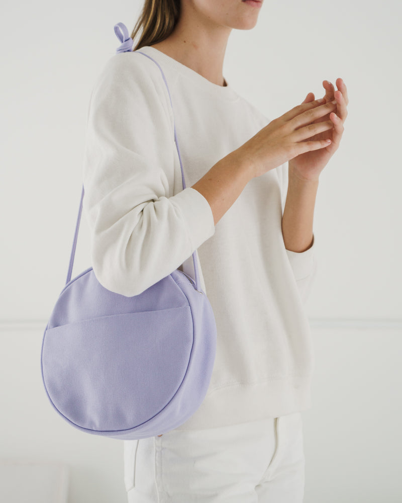 Medium Canvas Circle Purse - Lilac