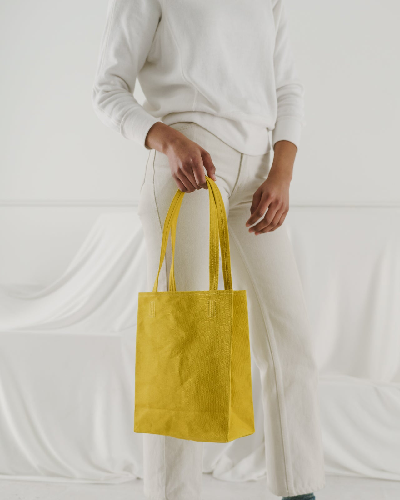 Canvas Retail Tote - Citron