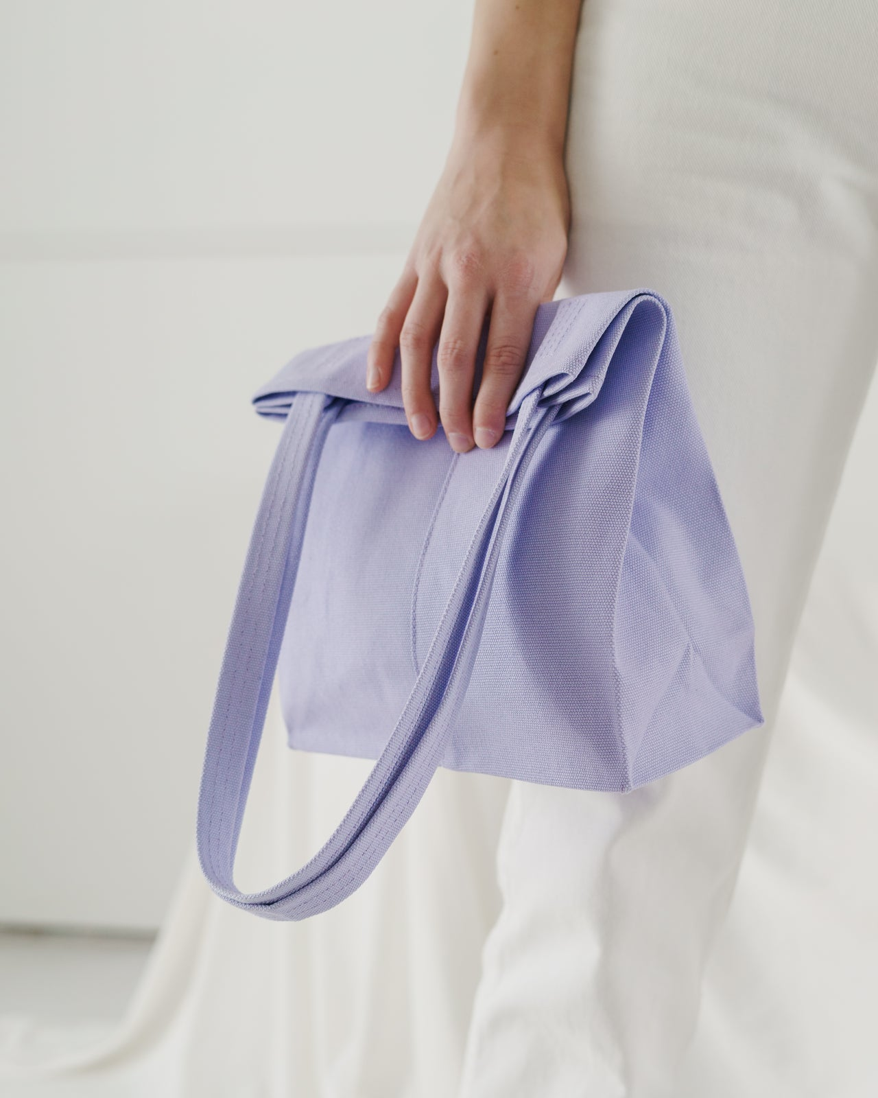 Canvas Retail Tote - Lilac