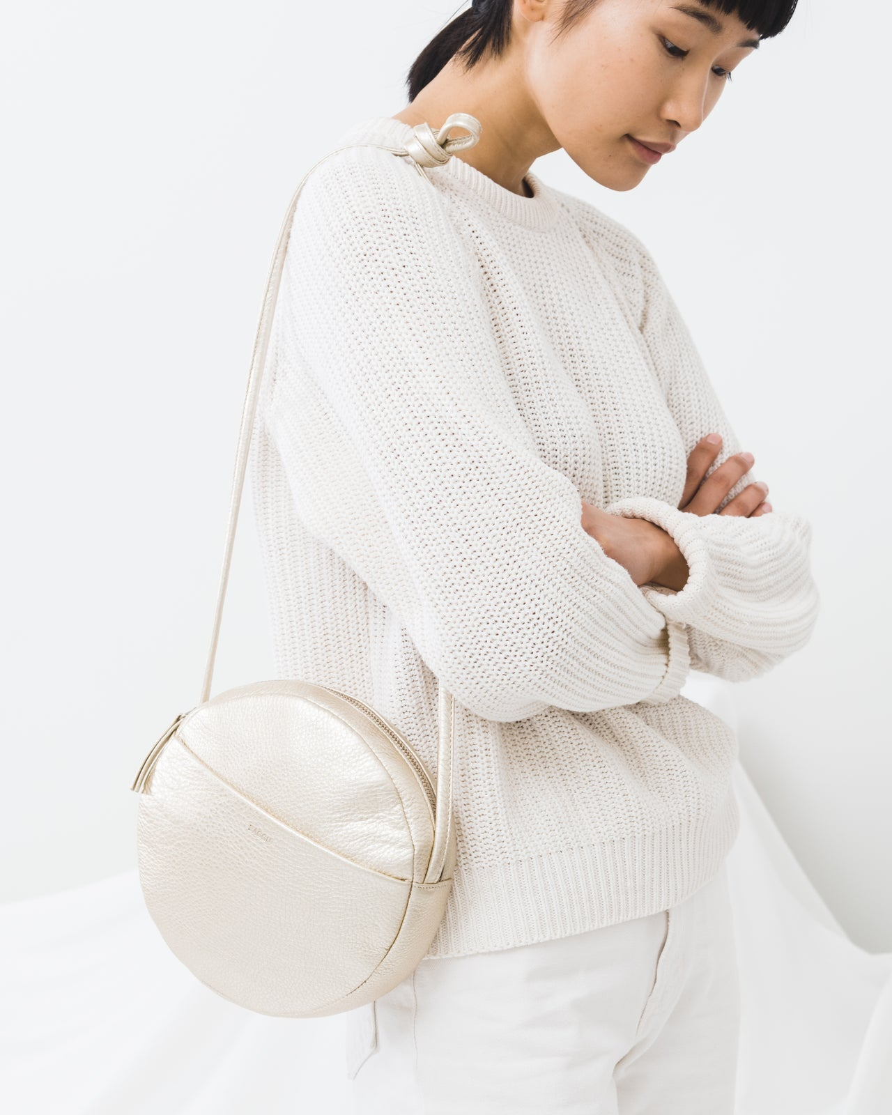 Soft Circle Purse - Platinum