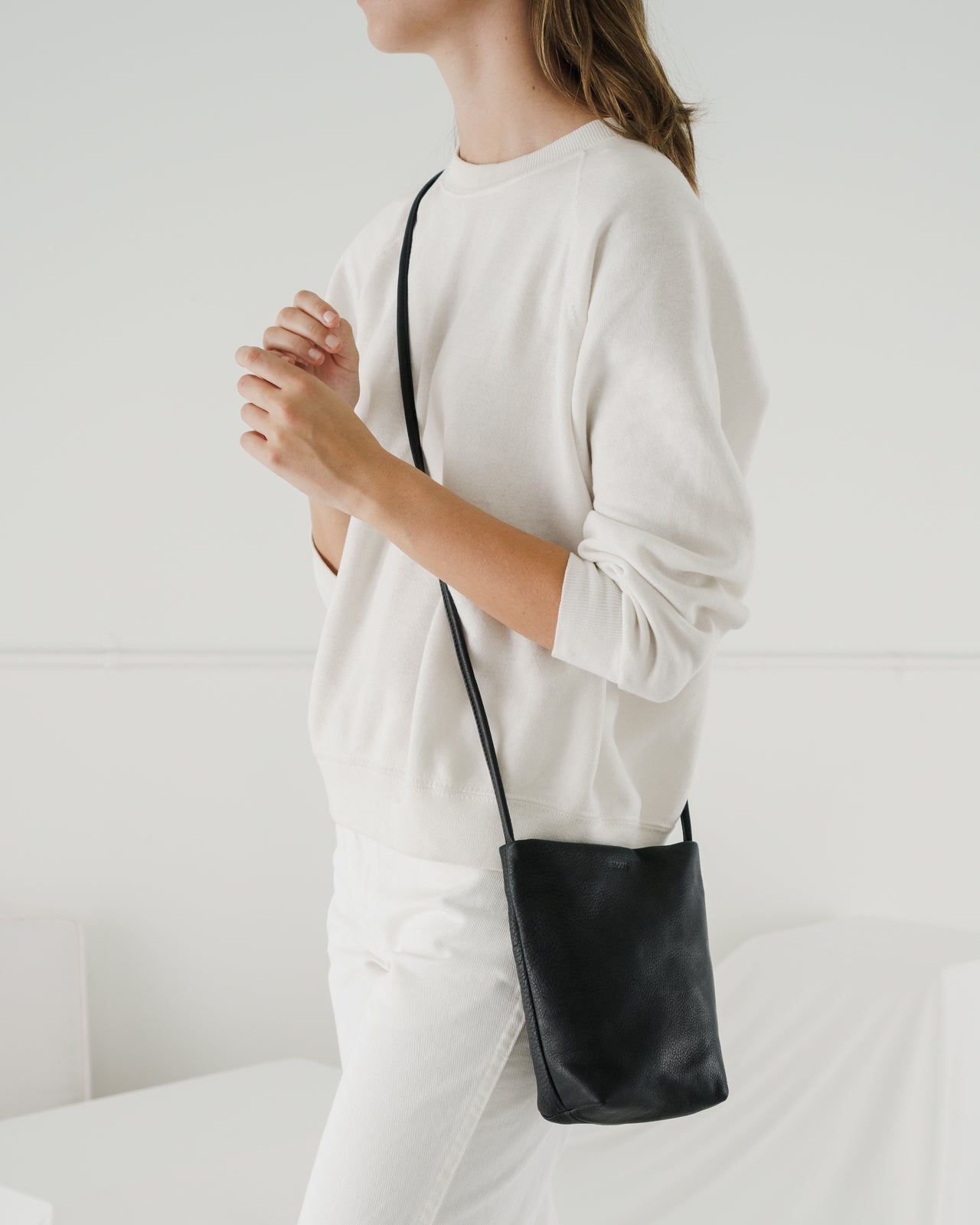 Soft Crossbody Purse - Black