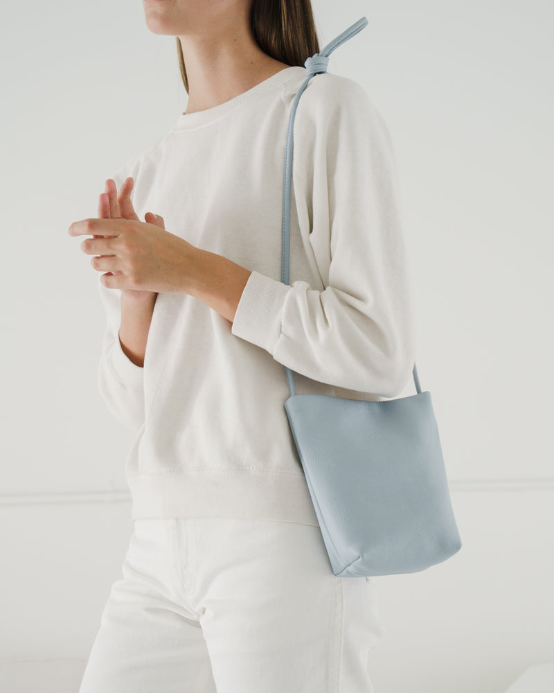 Soft Crossbody Purse - Soft Blue