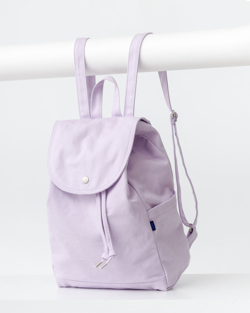 Drawstring Backpack - Canvas Backpack - Lilac - Purple - A simple canvas backpack for daily essentials. - Tags: Canvas backpack, drawstring backpack, daypack, student, backpacks, solid