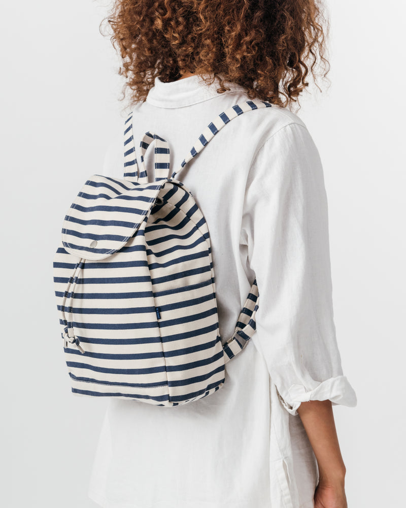 Drawstring Backpack - Sailor Stripe