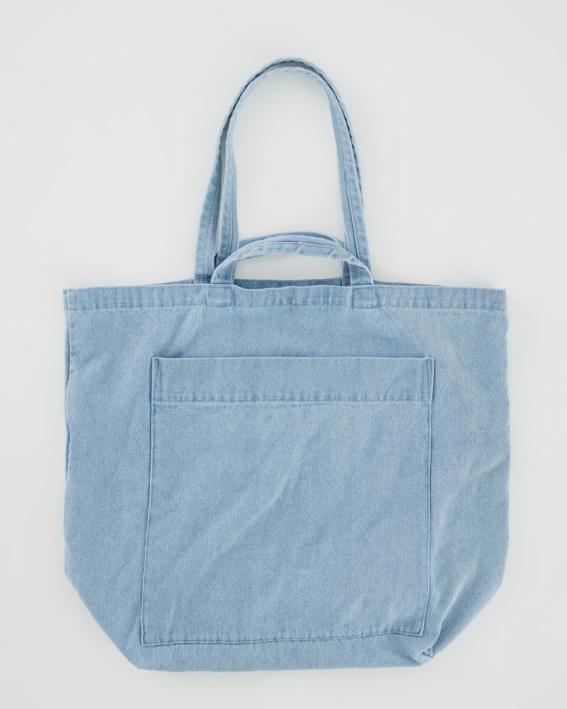 BAGGU  Giant Pocket Tote - Light Denim