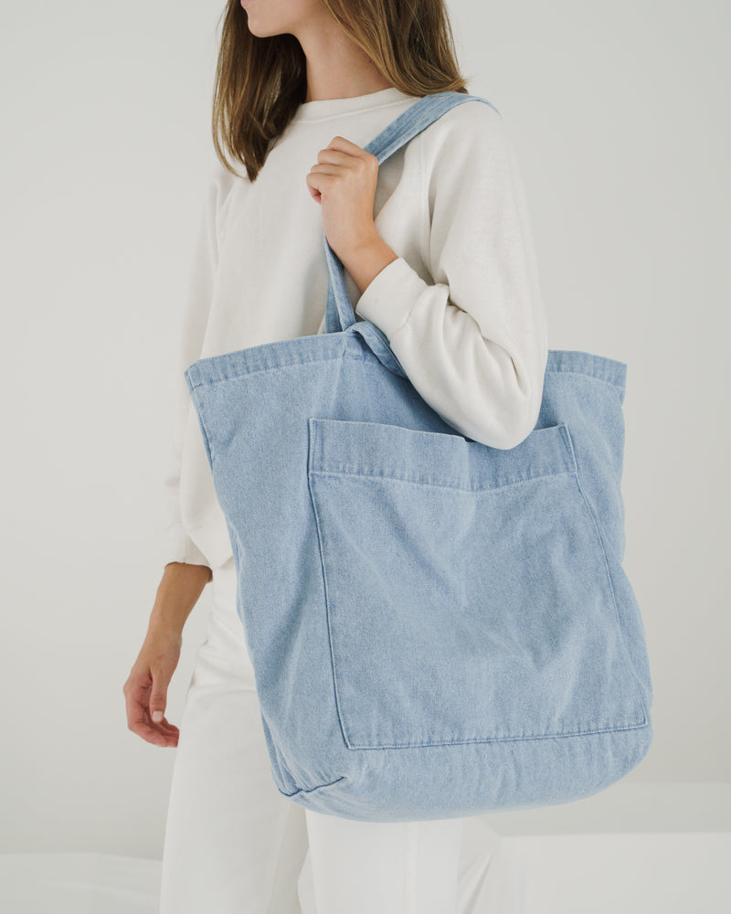 BAGGU Canvas Giant Pocket Tote - Light Denim