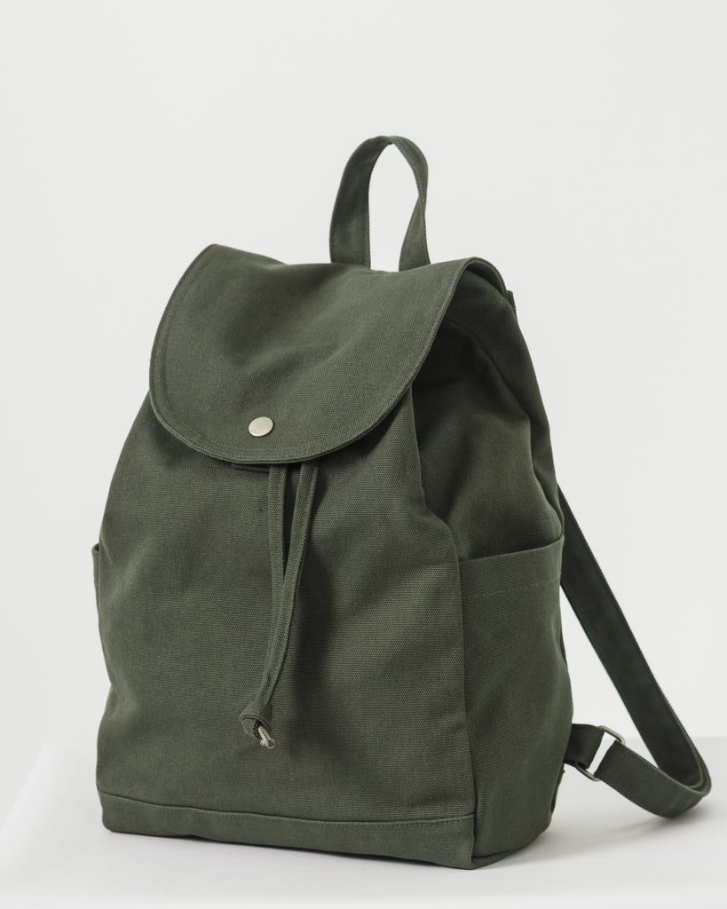 Drawstring Backpack - Dark Olive