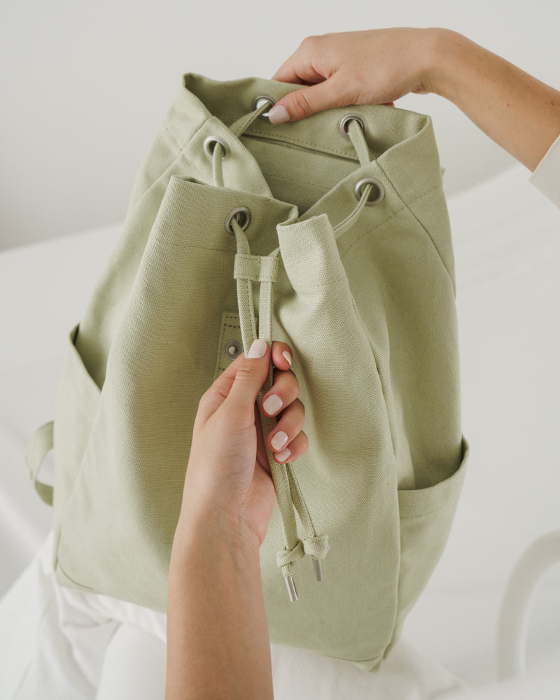 Drawstring Backpack - Matcha
