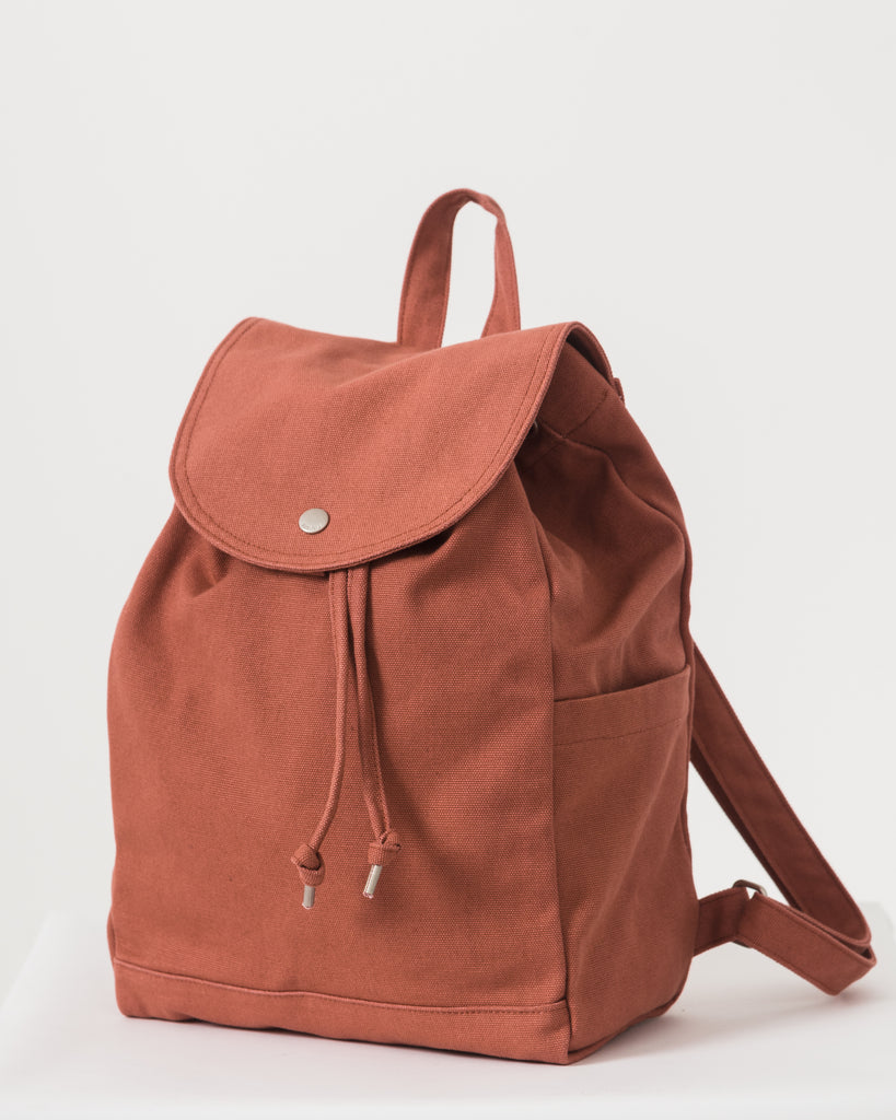 Drawstring Backpack - Terracotta