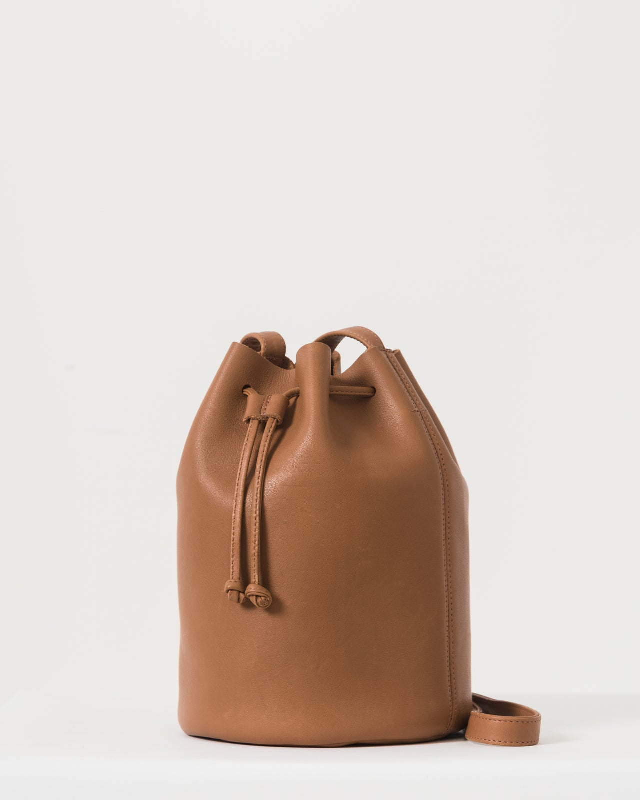 Drawstring Purse - Caramel -2018