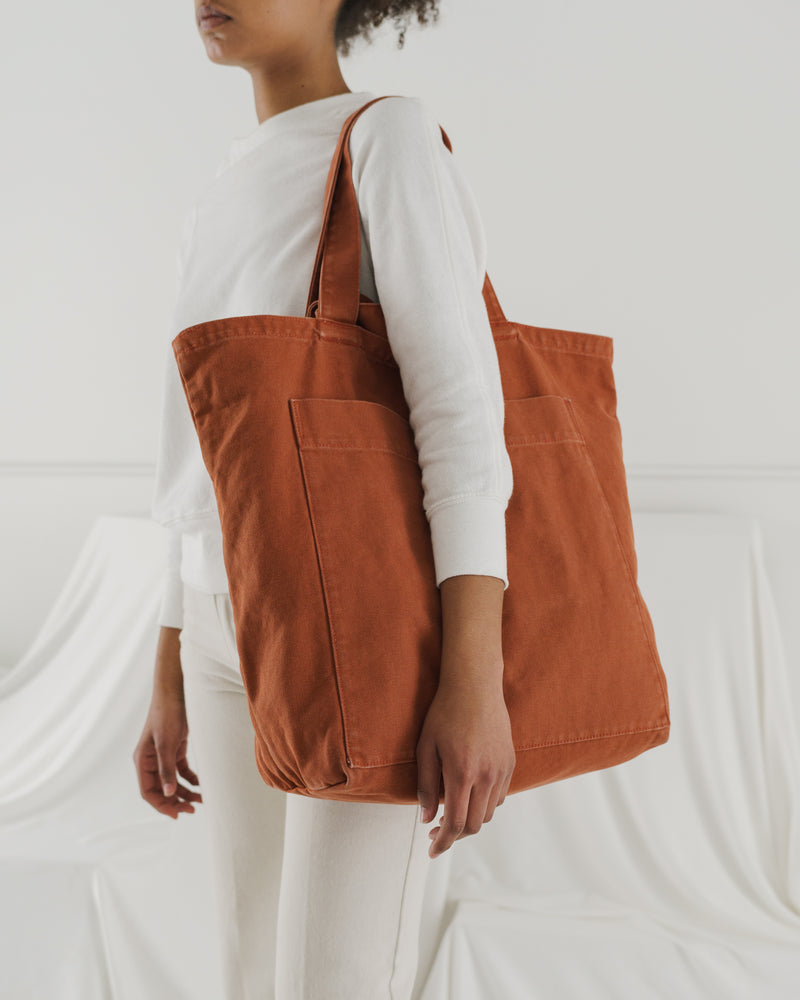 Giant Pocket Tote - Washed Umber