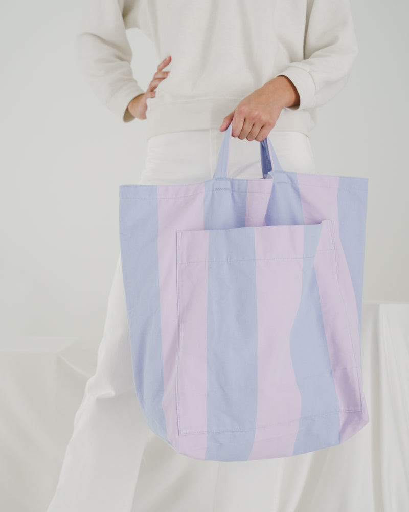 BAGGU  Giant Pocket Tote - Pale Orchid