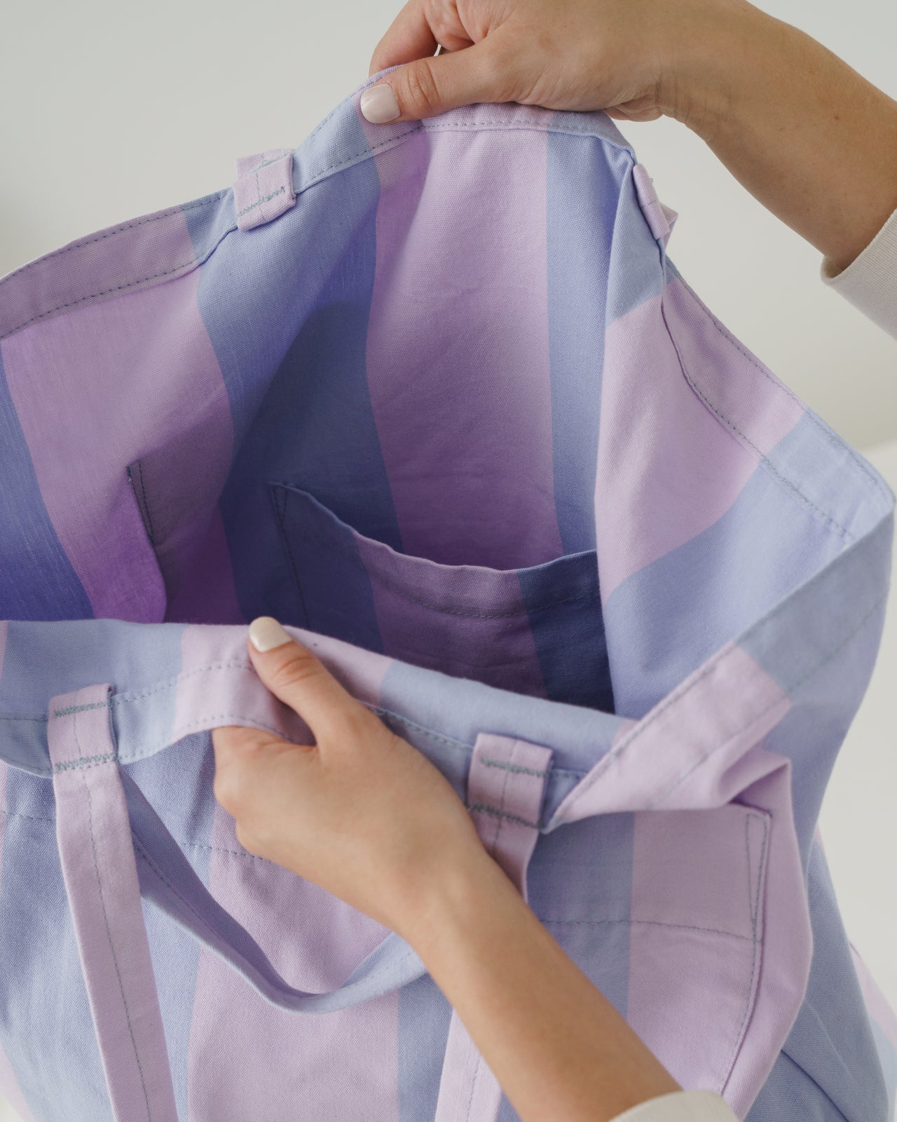 Giant Pocket Tote - Pale Orchid