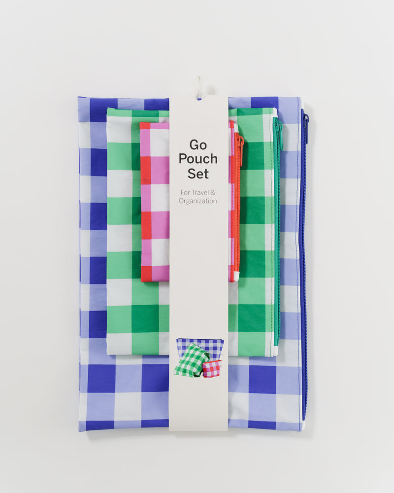 Go Pouch Set - Big Checks