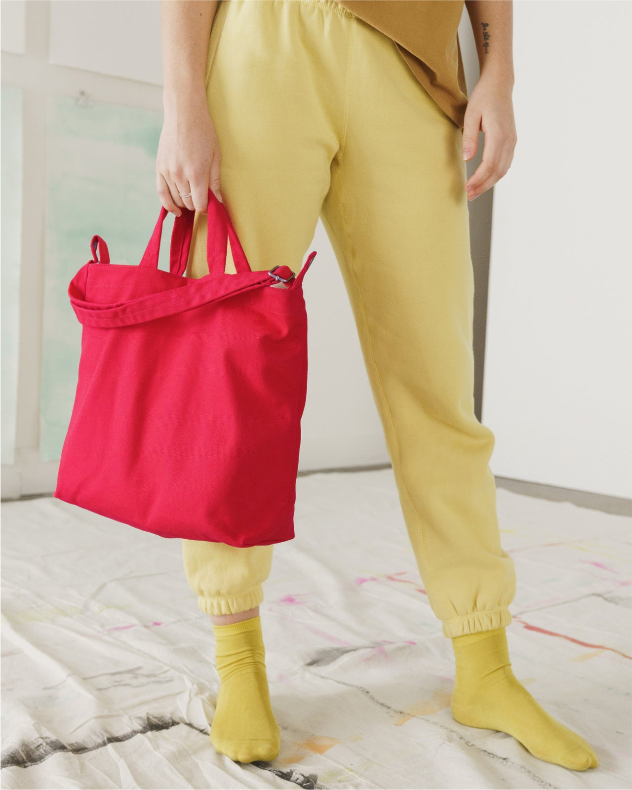 Horizontal Duck Bag - Punch Red