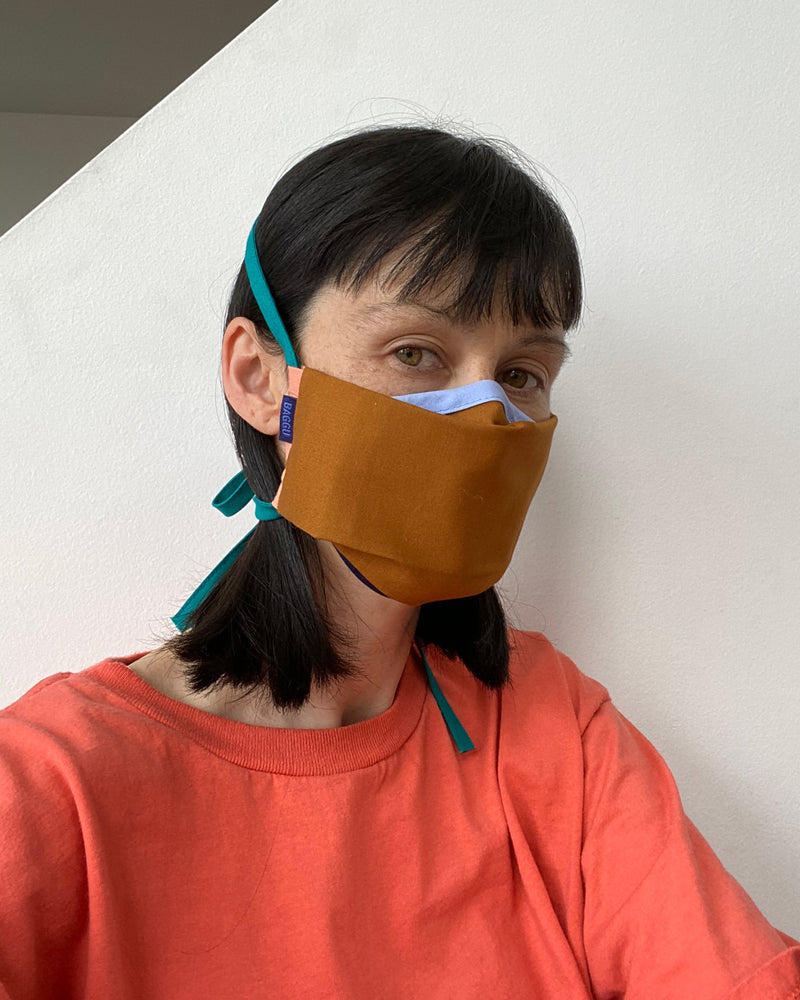 BAGGU New Arrivals Fabric Mask Set - Brown