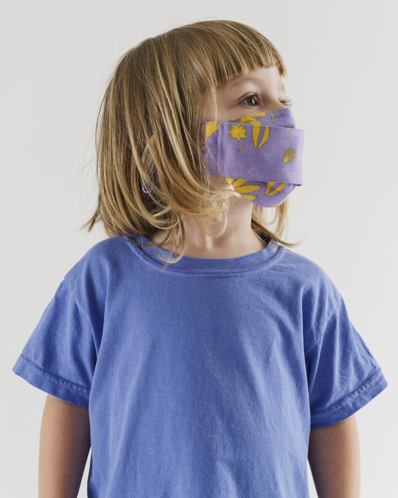Kids' Fabric Mask Set - Floral Sun Prints