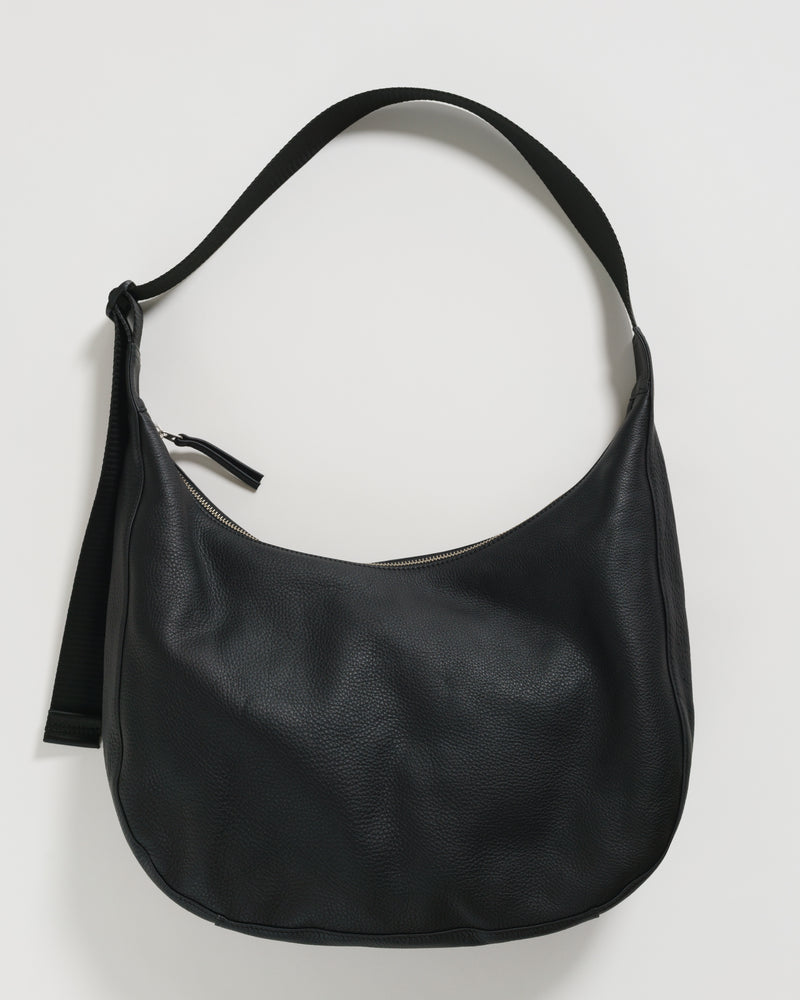 Large Crescent Purse - Black