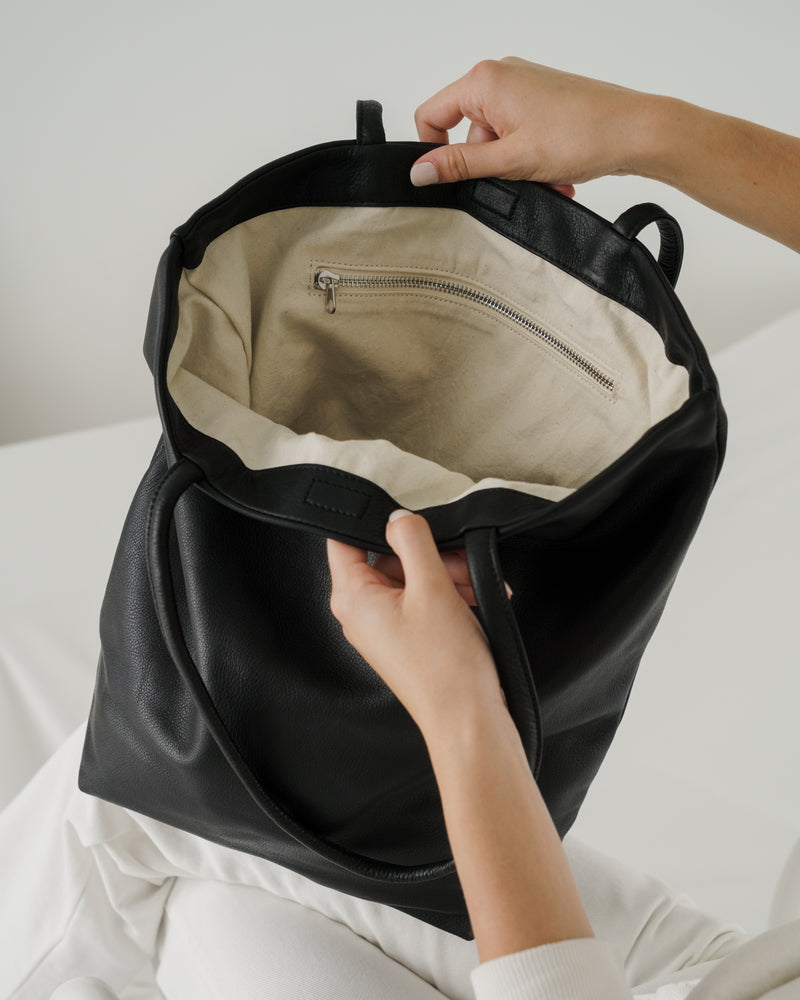 Soft Large Tote - Black