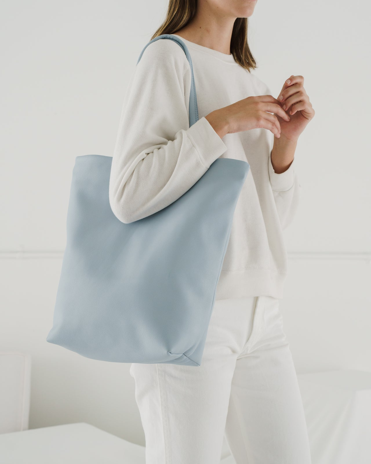 Soft Large Tote - Soft Blue