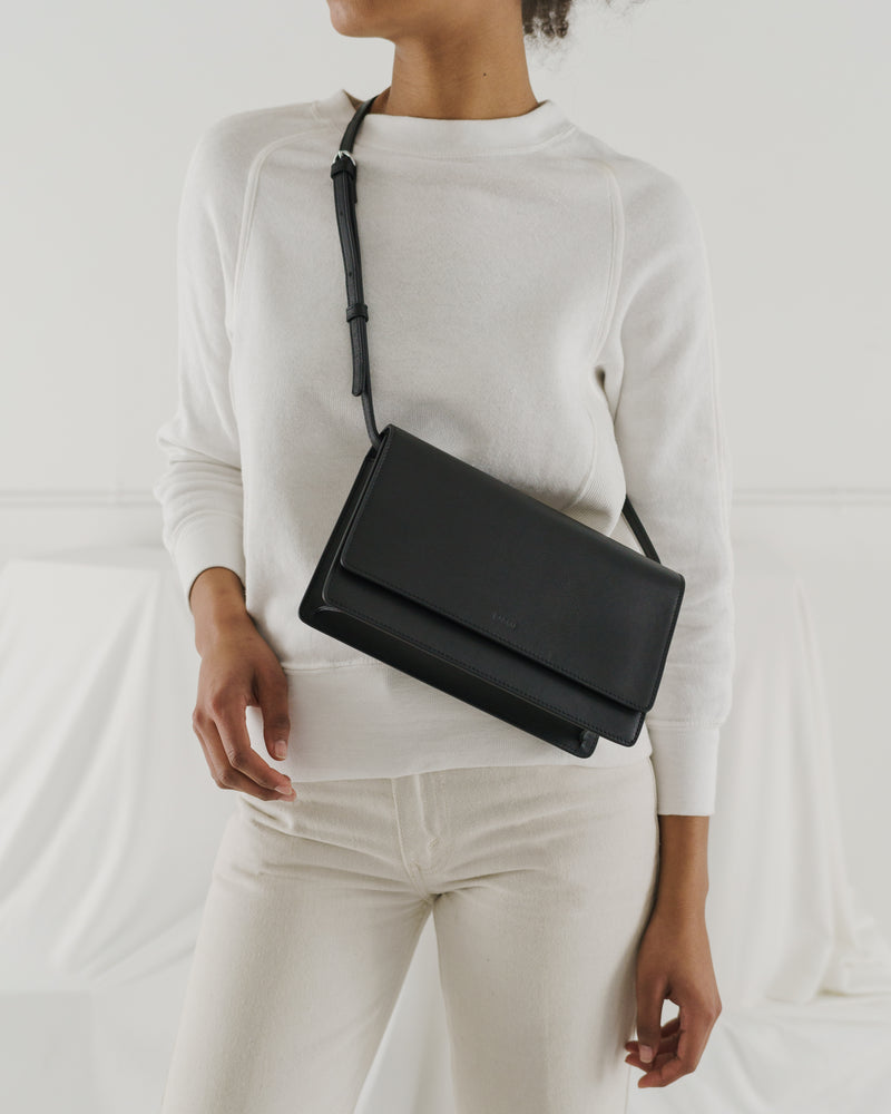 Large Structured Crossbody - Black