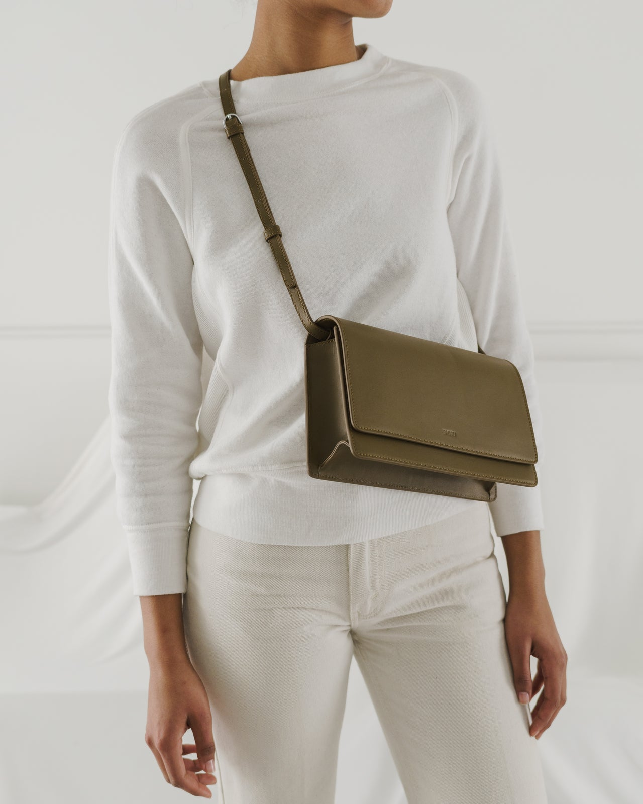 Large Structured Crossbody - Kelp