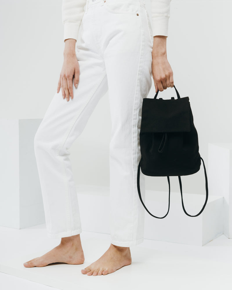 Canvas Mini Backpack - Black