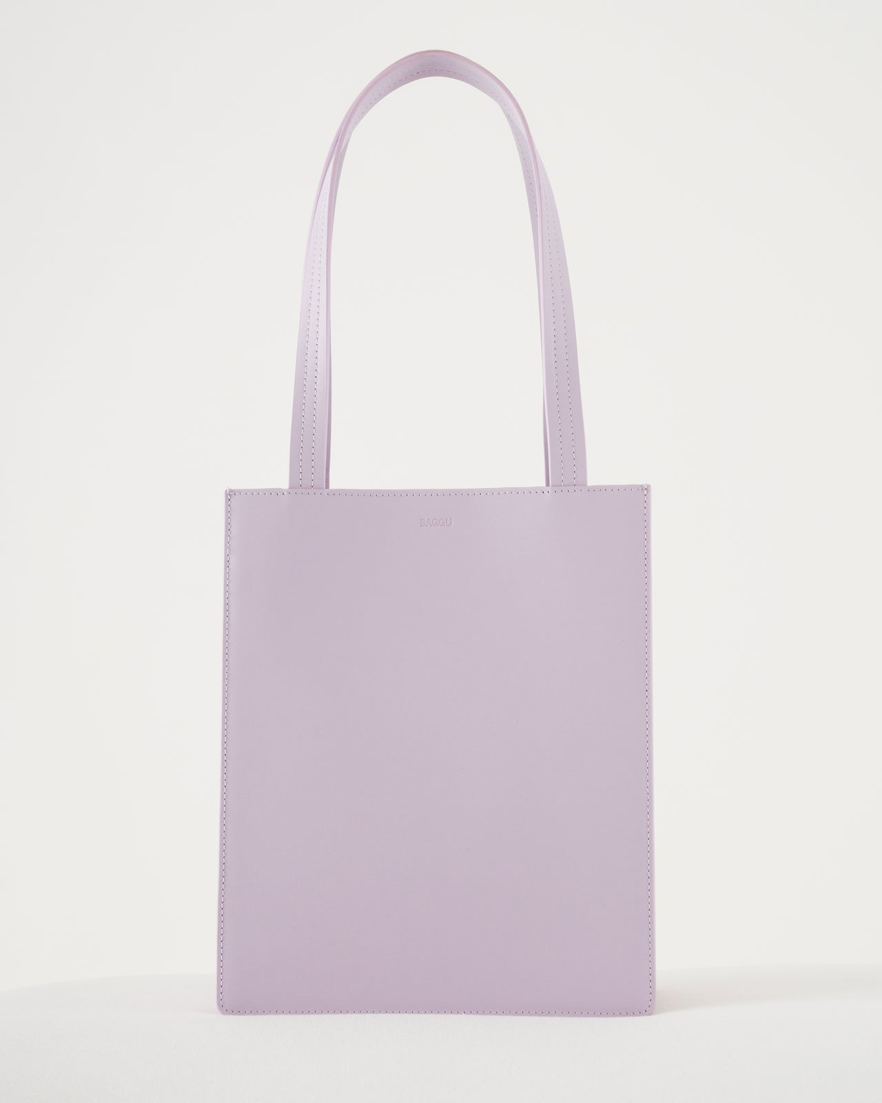 Medium Leather Retail Tote - Pale Orchid