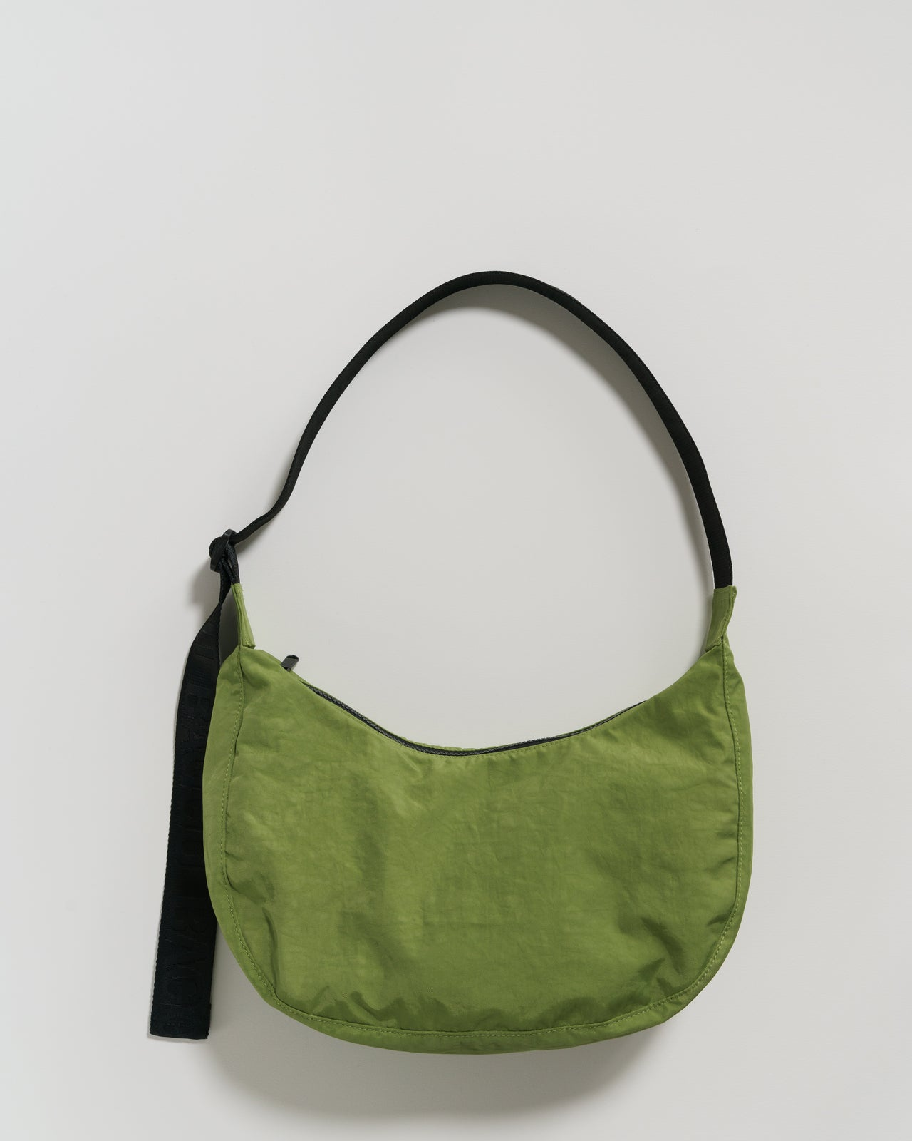 Medium Nylon Crescent Bag - Green Apple