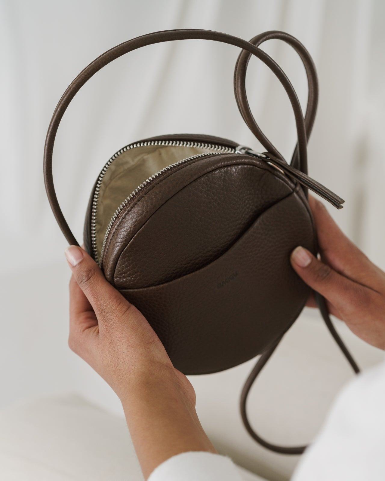 Soft Mini Circle Purse - Chocolate