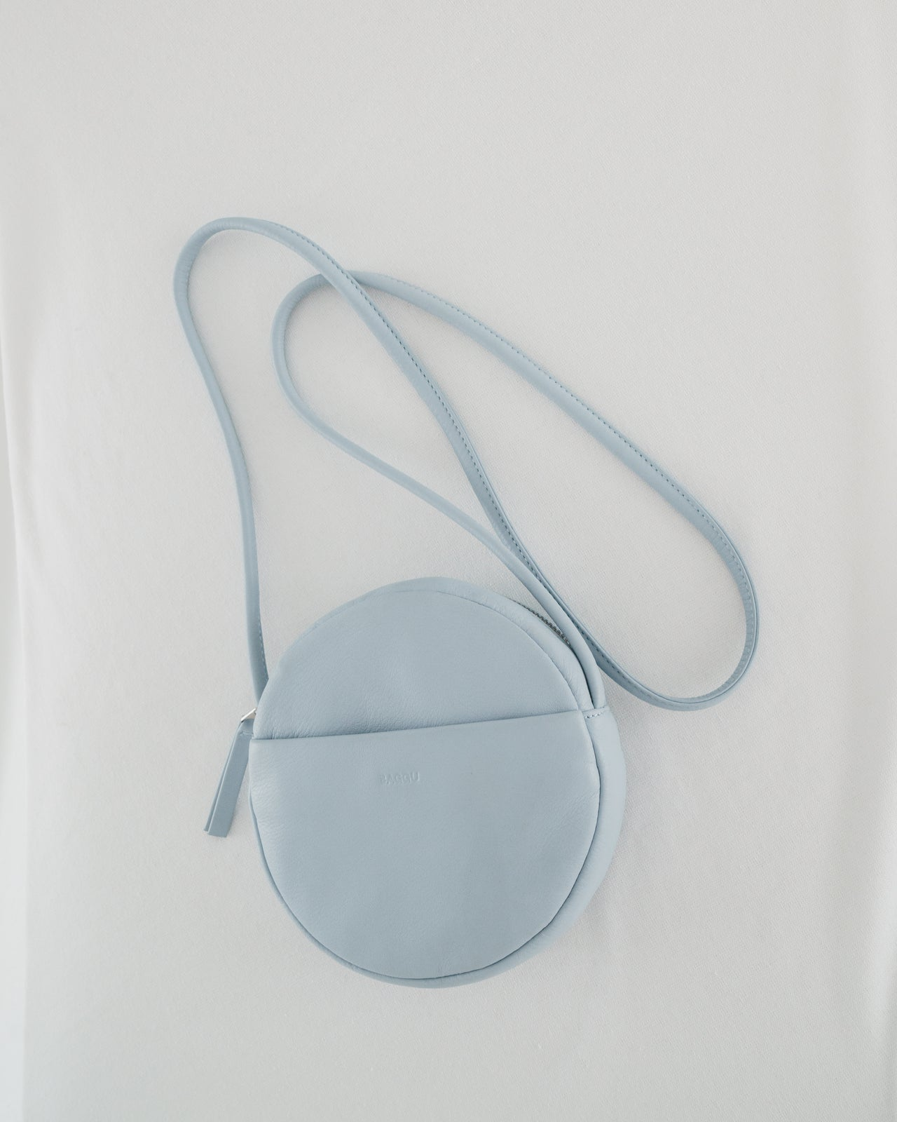 Soft Mini Circle Purse - Soft Blue