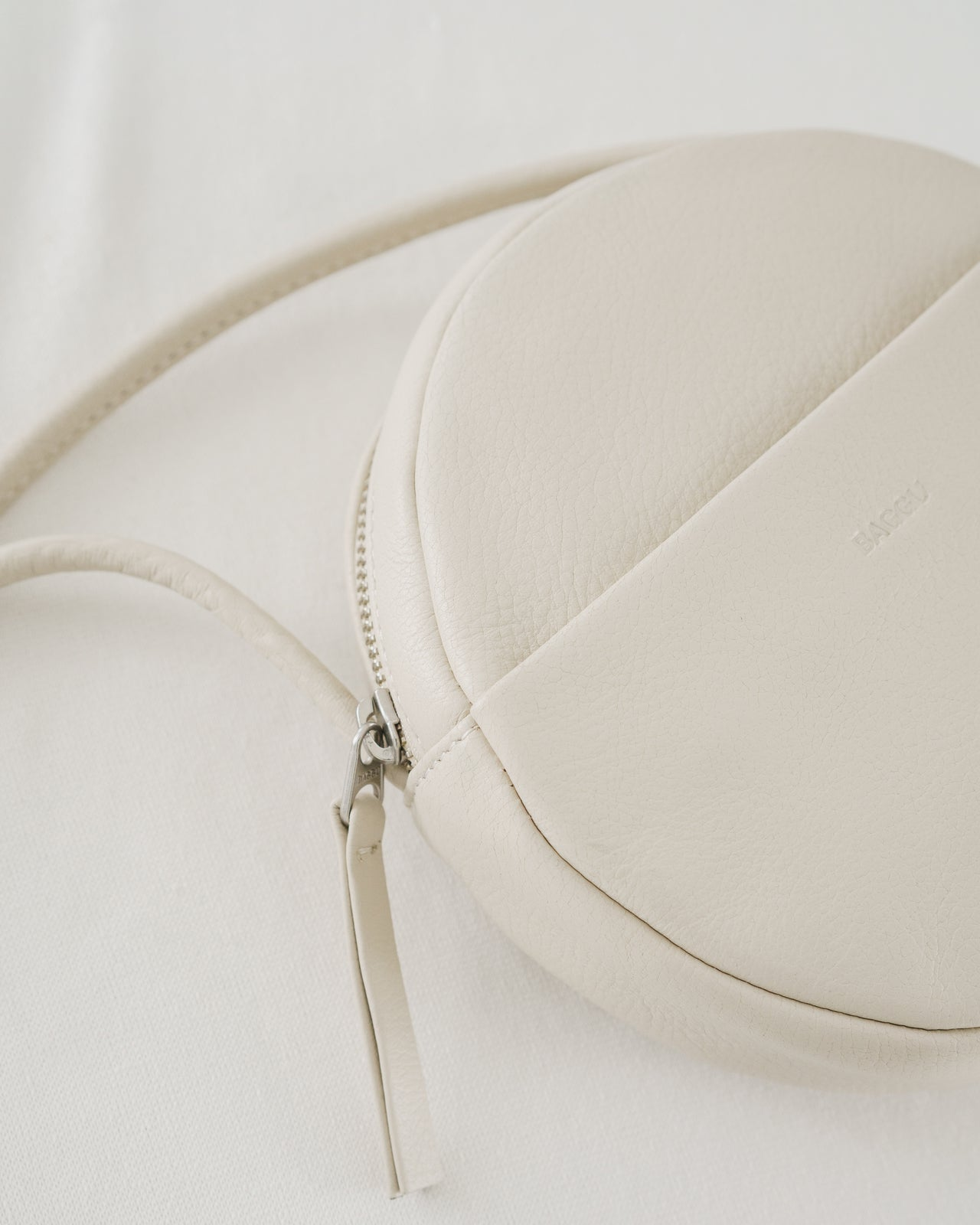 Soft Mini Circle Purse - Stone