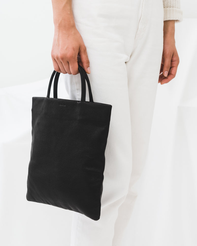Mini Flat Tote - Black