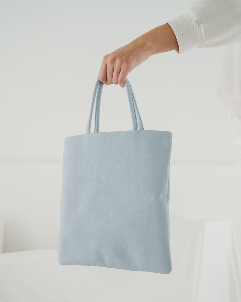 Mini Flat Tote - Soft Blue